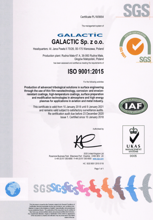 Certyfikat ISO 9001:2007