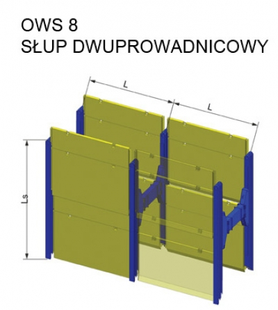 Słup dwuprowadnicowy OWS 8 - szczegółowe informacje o produkcie - KOPRAS
