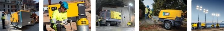 Atlas Copco Polska Sp. z o.o., budownictwo, serwis pomp, górnictwo, kompresor, Przewoźne maszty oświetleniowe HiLight LED