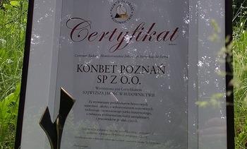Certyfikat Najwyższa Jakość w Budownictwie