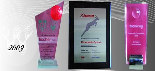 Nagrody i wyróżnienia 2009 firmy Fischerpolska