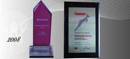 Nagrody i wyróżnienia 2008 firmy Fischerpolska