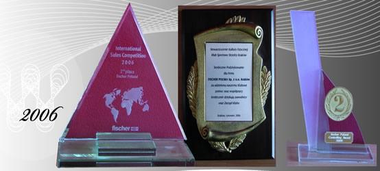 Nagrody i wyróżnienia 2006 firmy Fischerpolska