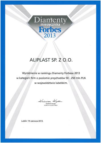 Diamenty Forbesa 2013, Aliplast