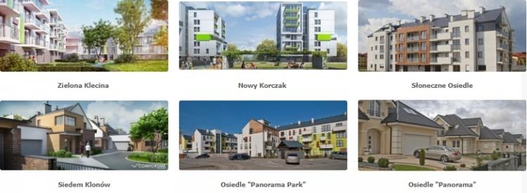 Zielona Klecina Antczak, Nowy Korczak, Słoneczne Osiedle, Siedem Klonów, Osiedle Panorama Park, Osiedle Panorama