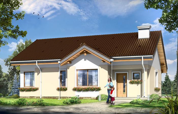 Projekty domów parterowych MGProjekt