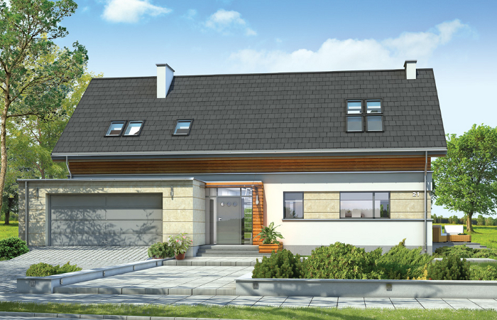 Projekty domów z wizualizacją wnętrz MGProjekt