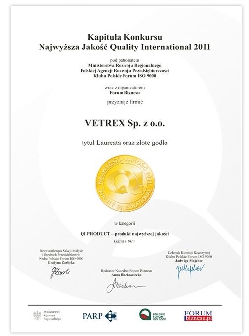 Najwyższa Jakość Quality International Vetrex