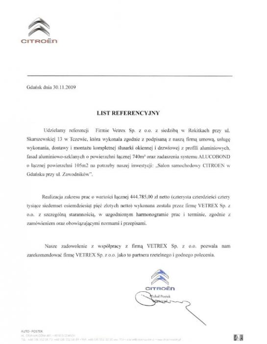 Citroen, Vetrex
