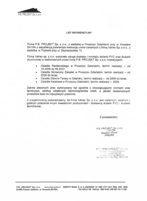 P.B Projekt, Vetrex