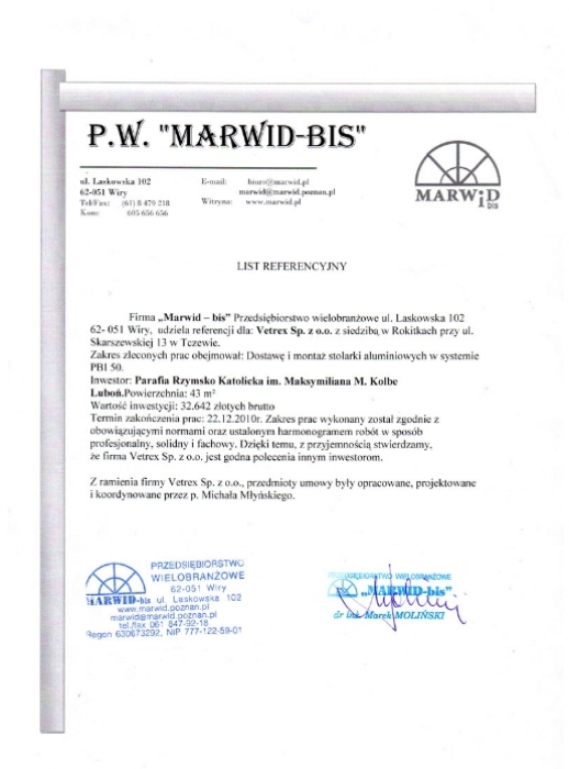 Marwid-bis, Vetrex