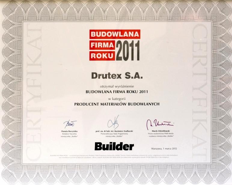 Builder - Budowlana Firma Roku 2011