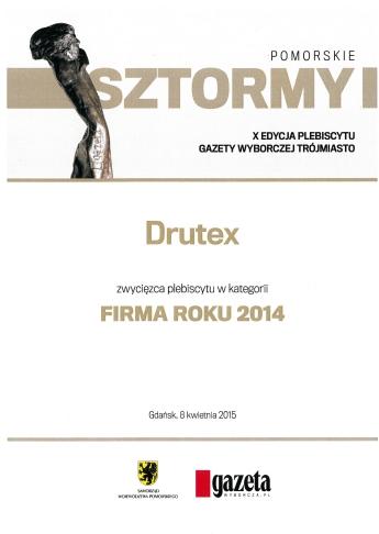 DRUTEX FIRMA ROKU 2014 - Pomorskie