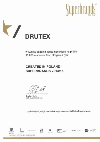 SUPERBRANDS 2014/2015 dla DRUTEX