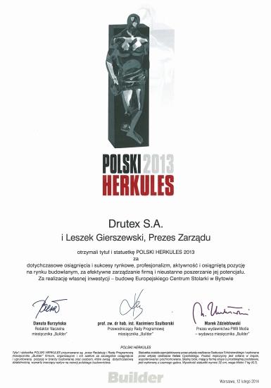 Polski Herkules 2013 dla firmy DRUTEX