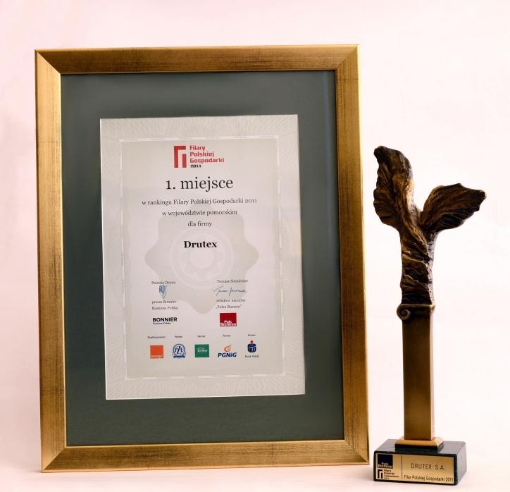 Filary Polskiej Gospodarki 2011 dla firmy DRUTEX