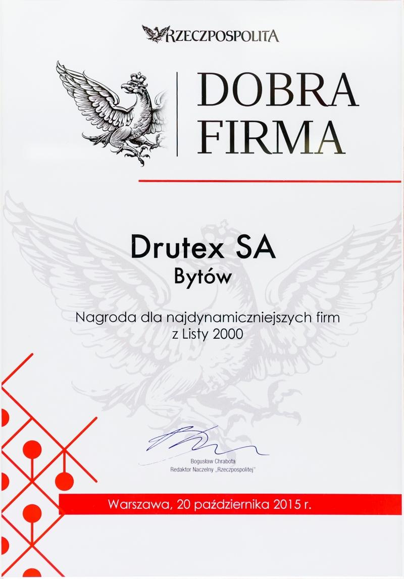 Lista 2000 - DOBRA FIRMA dla firmy DRUTEX