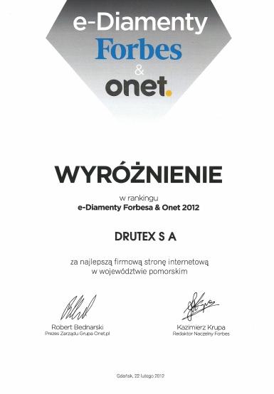 e-Diamenty Forbes & onet.2012 dla DRUTEX