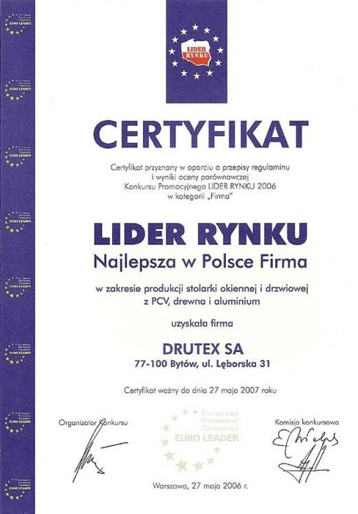 Lider Rynku - Najlepsza w Polsce Firma
