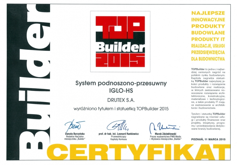 TOPBuilder 2015 dla DRUTEX
