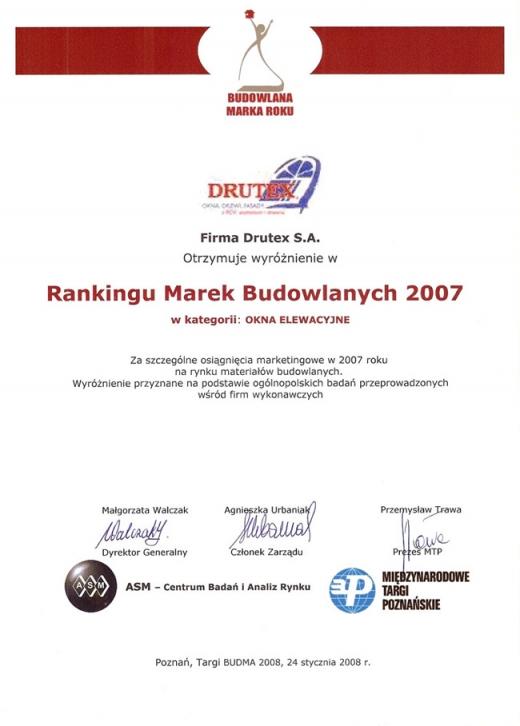 Budowlana Marka Roku 2007