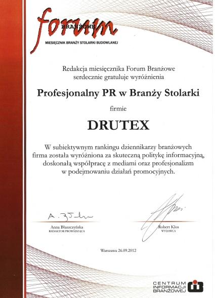 Profesjonalny PR w Branży Stolarki dla firmy DRUTEX