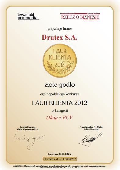 Złoty Laur Klienta 2012