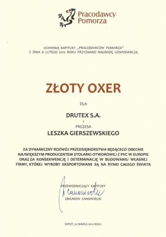 Złoty Oxer - nagroda gospodarcza