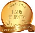 Godło Laur Konsumenta, Złote Godło Konsumencki Lider Jakości, laur klienta 2004-2014