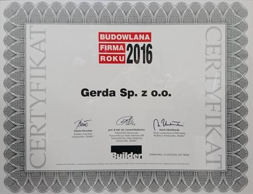 Budowlana Firma Roku 2016