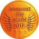 Godło Laur Konsumenta, Złote Godło Konsumencki Lider Jakości, konsumencki lider jakości 2012, Gerda