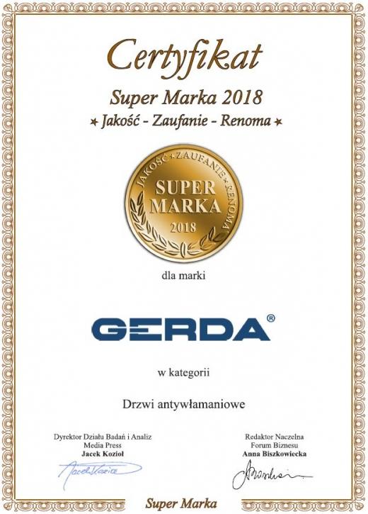 Super Marka 2018 dla Gerda
