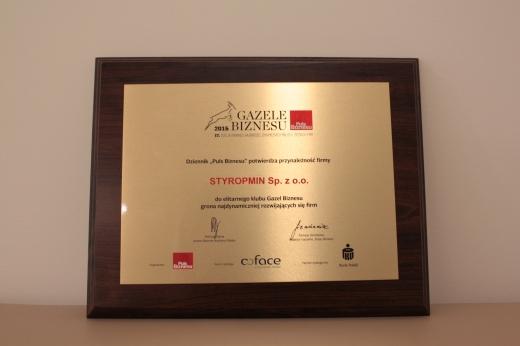 Gazele Biznesu 2016 dla STYROPMIN