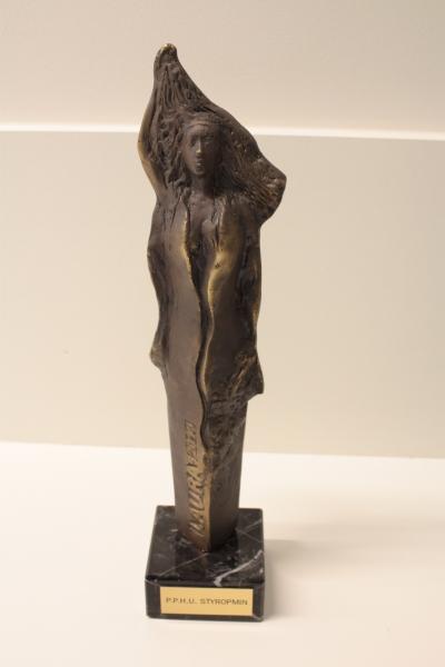 """Nagroda Powiatu Mińskiego """"Laura"""" w dziedzinie rozwój przedsiębiorczości 2014 dla STYROPMIN"""