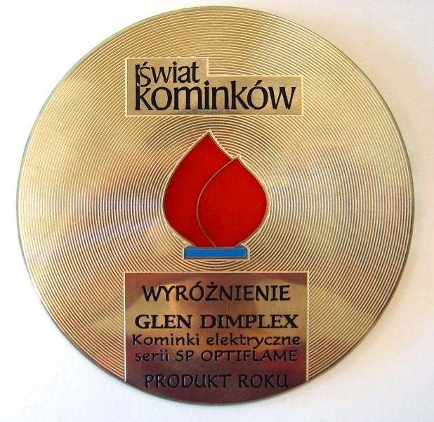 Wyróżnienie dla kominków elektrycznych Optiflame serii SP w konkursie Płomień Roku Glen Dimplex