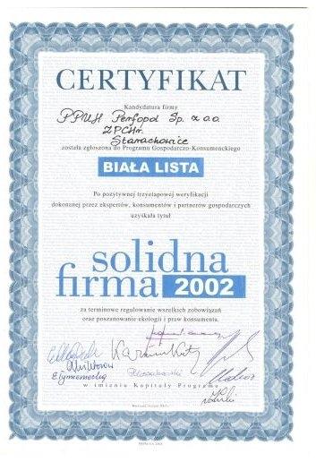 Solidna Firma 2002 ''Biała Lista''