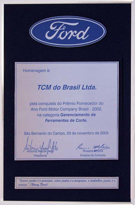 Dostawca Roku  Ford Brazylia, TCM