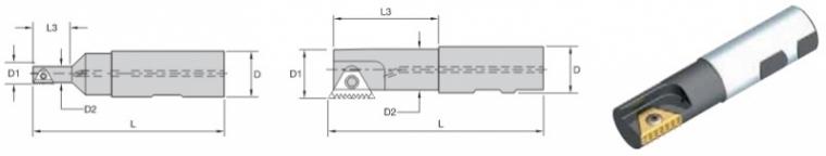 System frezowania gwintów, frezy trzpieniowe składane do toczenia gwintów wewnętrznych, zewnętrznych, lewych, prawych