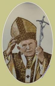 Ornat złoty z Janem Pawłem II O - 140 SlawTom