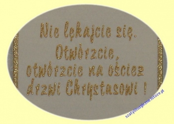 Ornat kremowy z wizerunkiem Jana Pawła II - O 119 SlawTom
