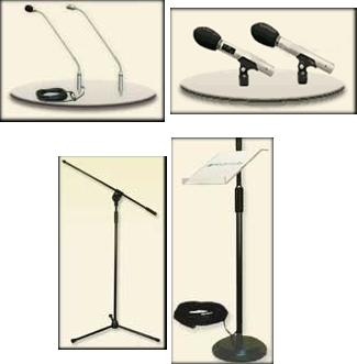 Mikrofony i statywy Full Media System