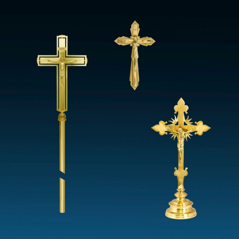 ALADYN z Krakowa, Krzyże ołtarzowe i procesyjne