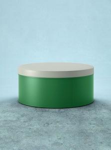 Pufa z miękkim siedziskiem BOX, Met-lak, Pufa BOX 120 PL MAT/green
