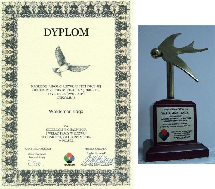 Nagroda Jaskółki Rozwoju Technicznej Ochrony Mienia w Polsce na Jubileusz XXV-lecia (1980-2005), Alarmtech