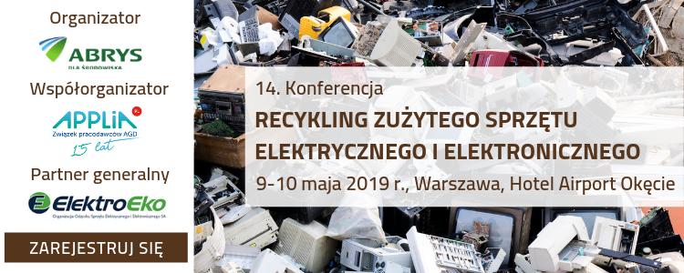 """14. Konferencja """"Recykling zużytego sprzętu elektrycznego i elektronicznego"""","""