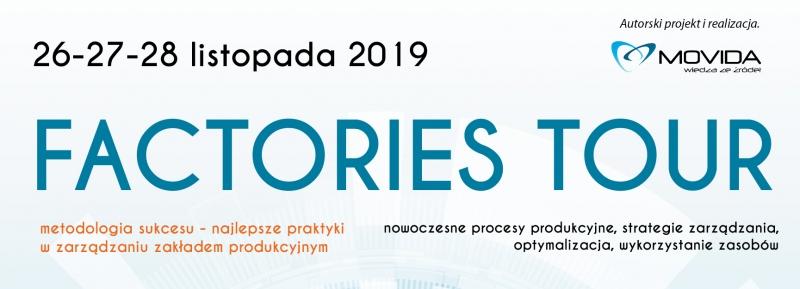 MOVIDA zaprasza na kolejną edycję spotkania FACTORIES TOUR, które odbędzie się w dniach 26-27-28 listopada 2019 roku.